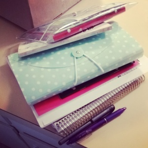 Loaded down with paper supplies!