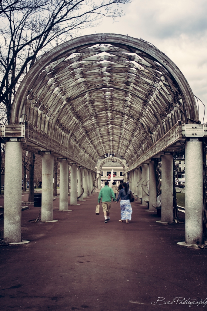 This couple was too cute not to photograph walking through the tunnel behind the Christopher Columbus park.